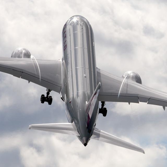 """00076 Qatar Airways 787-8 Dreamliner"" stock image"