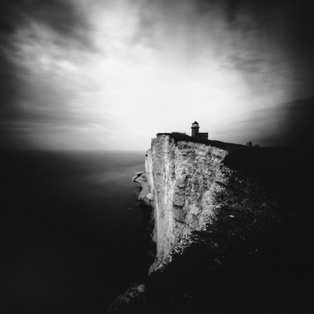 """Belle Tout Lighthouse. Pinhole Photo"" stock image"