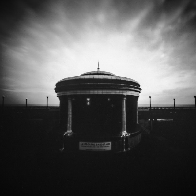 """Eastbourne Bandstand. Pinhole Photo"" stock image"