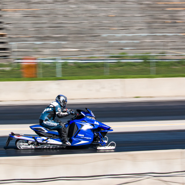 """Grand Bend Motorplex - Snowmobile Drag"" stock image"