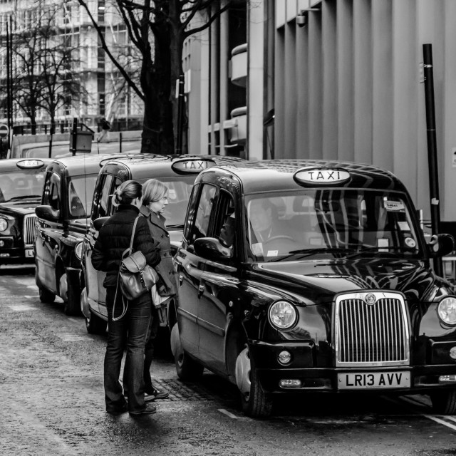 """Taxi Rank"" stock image"