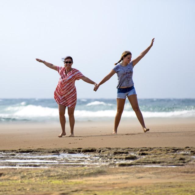 """""""Happy beach holiday"""" stock image"""