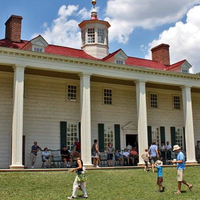 """George Washington's Mount Vernon, Fairfax County, Virginia"" stock image"