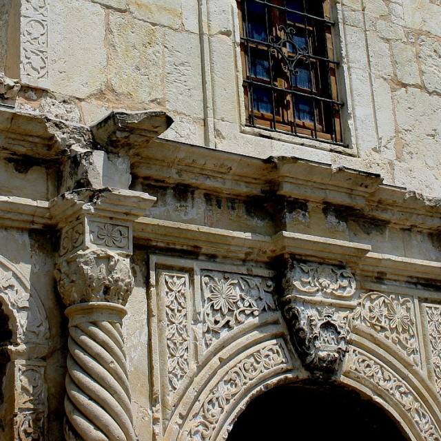 """Alamo Mission (""The Alamo""), San Antonio, Texas"" stock image"