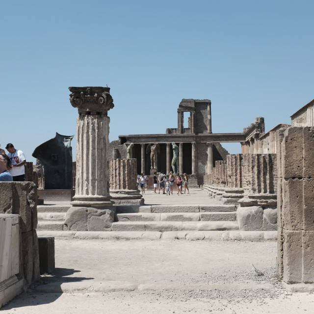 """Tourists at The Forum, Pompeii"" stock image"