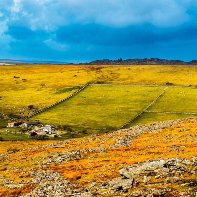 """Upland Cornwall"" stock image"