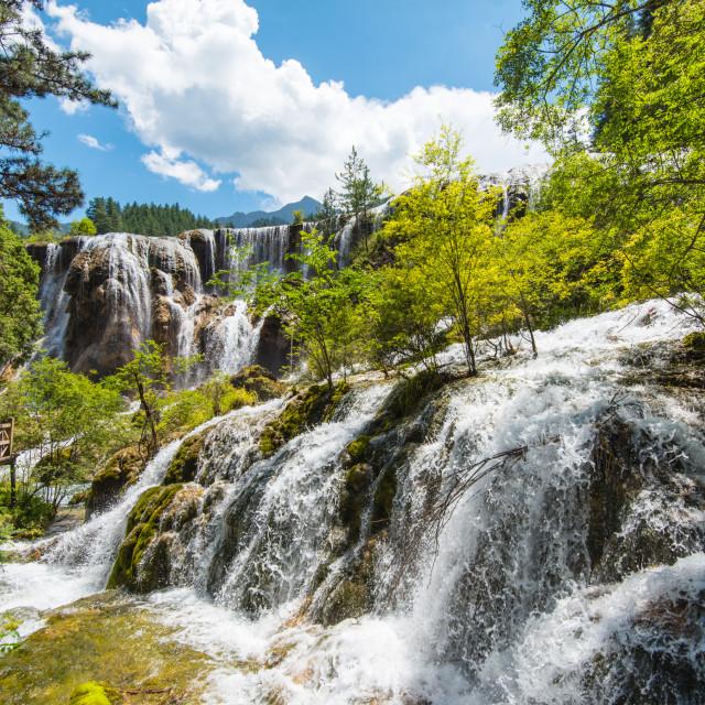 """""""Pearl Shoal Waterfall"""" stock image"""