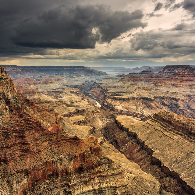 """Moody Grand Canyon"" stock image"