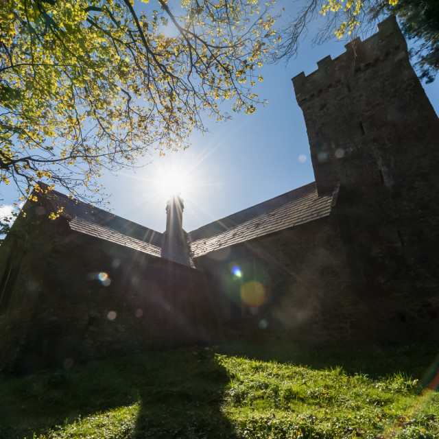 """""""medieval church silhouette"""" stock image"""