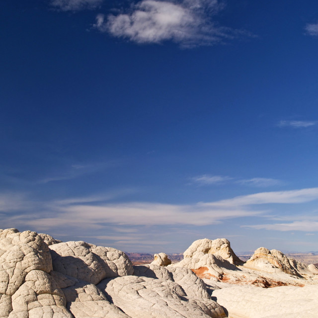 """""""Rock formations at White Pocket"""" stock image"""