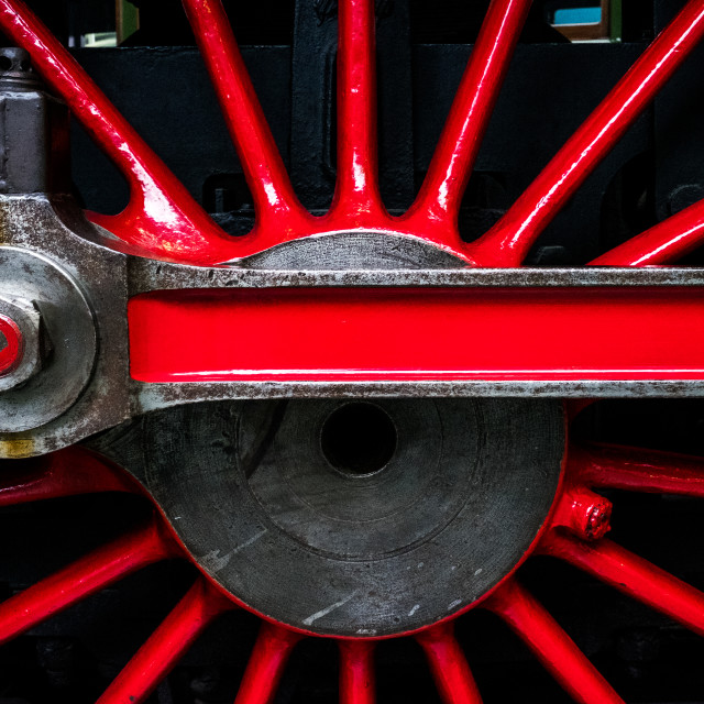 """Red Wheel"" stock image"