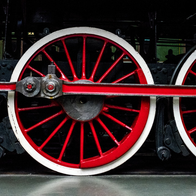 """Red Wheels"" stock image"