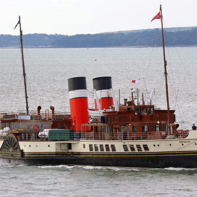 """Waverley Paddle Steamer"" stock image"