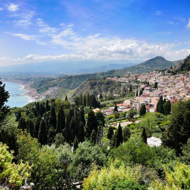 """Taormina Sicily"" stock image"