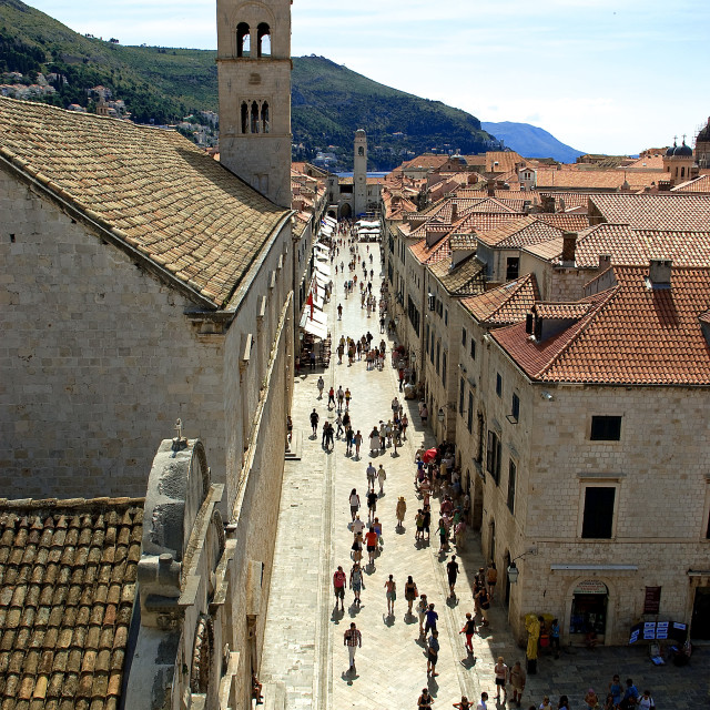 """Dubrovnik, the Stradun"" stock image"