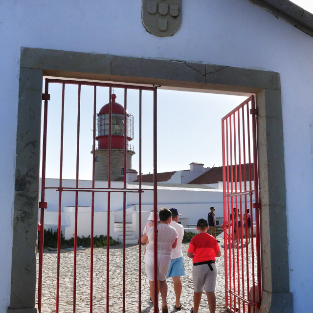 """Cape St Vincent lighthouse"" stock image"