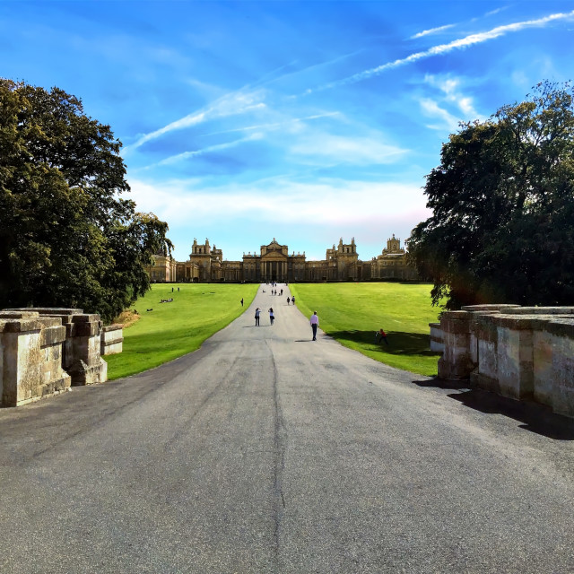"""The road to Blenheim Palace"" stock image"