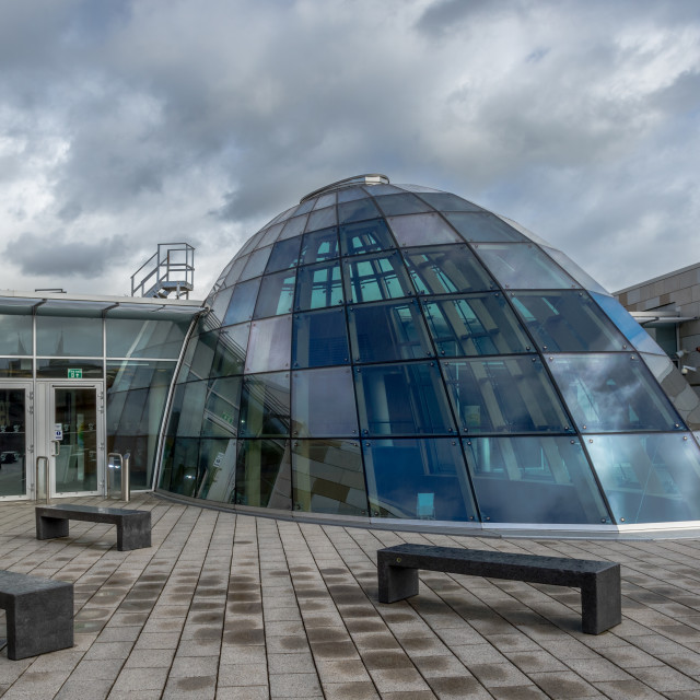 """""""Liverpool Central Library's rooftop"""" stock image"""