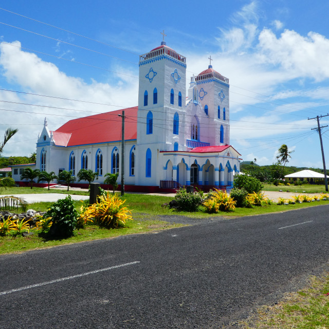"""Pacific church"" stock image"