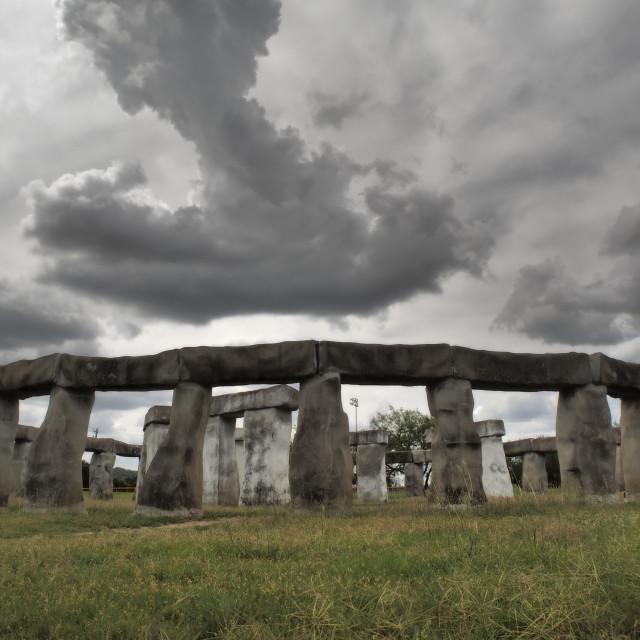 """""""Stonehenge II in Texas"""" stock image"""