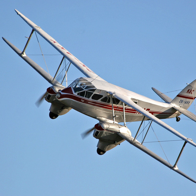 """NAC De Havilland Dragon Rapide banking"" stock image"