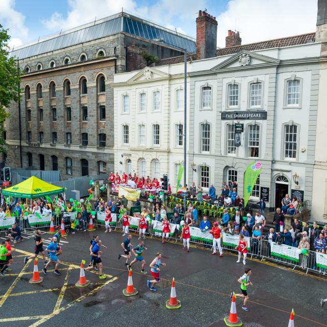 """Bristol Half Marathon 2016"" stock image"