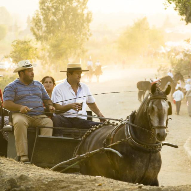 """""""Romeria Fuengirola, annual pilgrimage"""" stock image"""