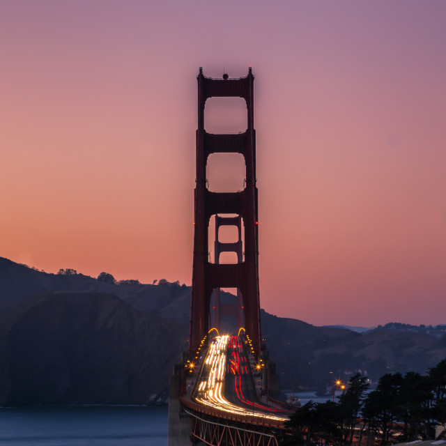 """A view of the Golden Gate Bridge"" stock image"