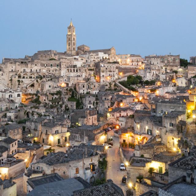 """Sassi di Matera, Italy"" stock image"