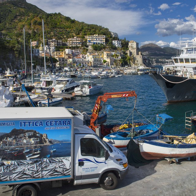 """Amalfi Coast; Cetara, a fishermen village near Vietri."" stock image"
