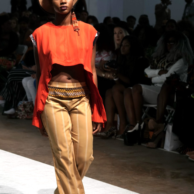 """Lihiya showcases latest fashions at AFWL 2014 at London Olympia"" stock image"