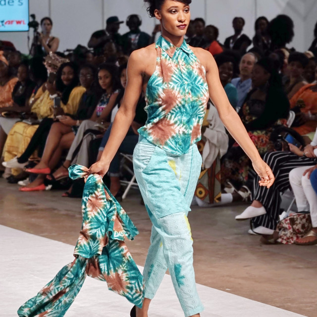 """""""Nomade's showcases latest fashions at AFWL 2014 at London Olympia"""" stock image"""