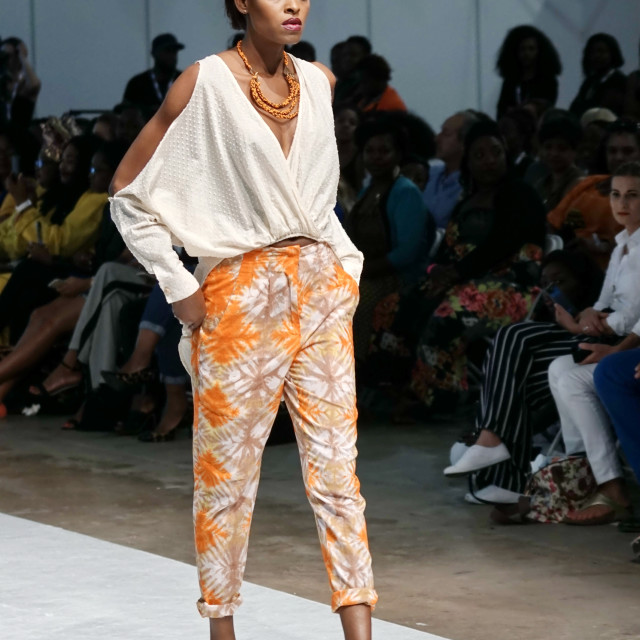 """Nomade's showcases latest fashions at AFWL 2014 at London Olympia"" stock image"