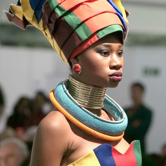 """KZA Fashion Council SA Collective fashions at AFWL 2014"" stock image"