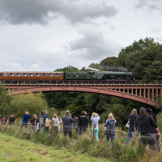 """Flying Scotsman at Pacific Power event, Severn Valley Railway,"" stock image"