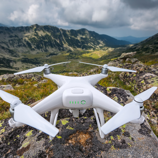 """""""Quadracopter ready to fly"""" stock image"""