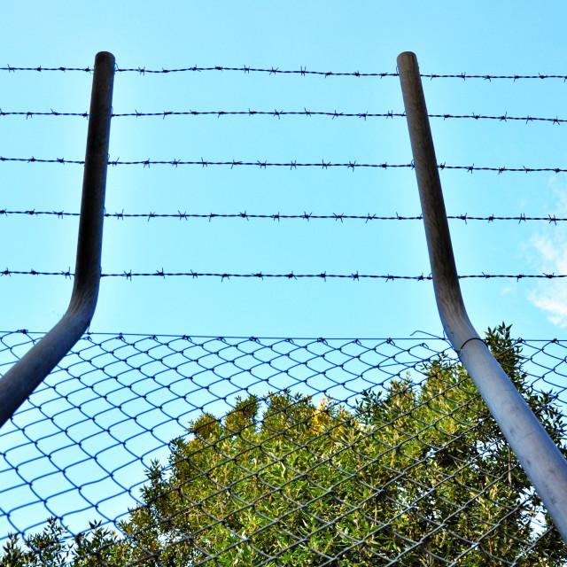 """Prison Fence"" stock image"