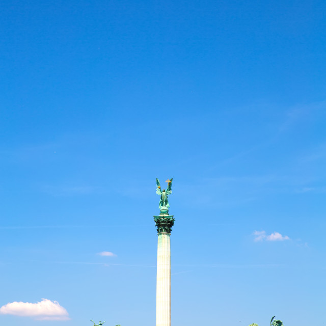 """The Millenium Monument on the heroes square in Budapest"" stock image"