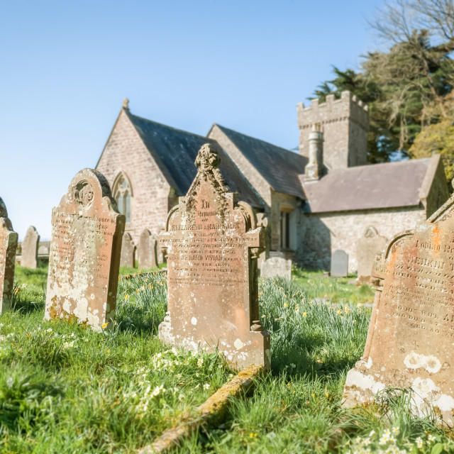 """church graveyard headstones"" stock image"