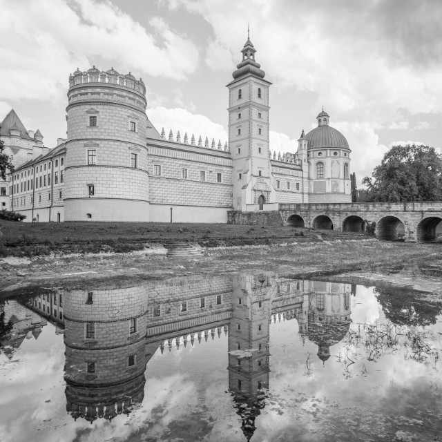 """Castle Reflections"" stock image"