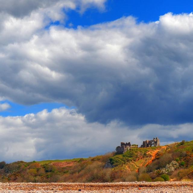 """Pennard Castle, Gower"" stock image"