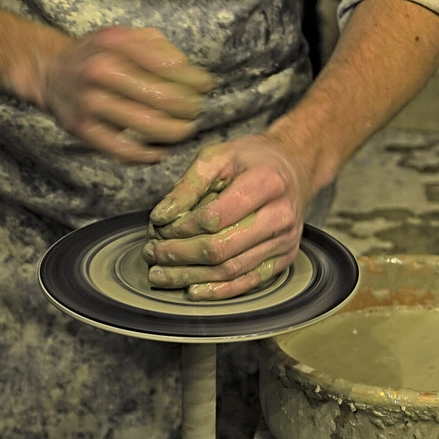 """Pottery, Sculptor, Potter."" stock image"