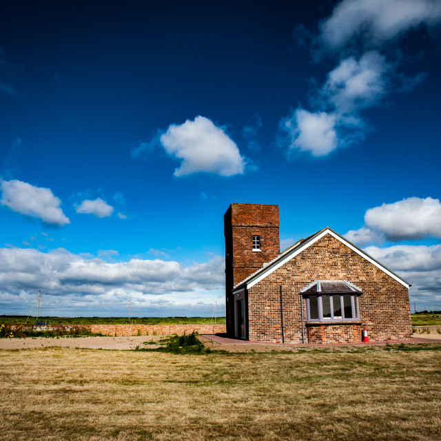 """Old coastguard station"" stock image"