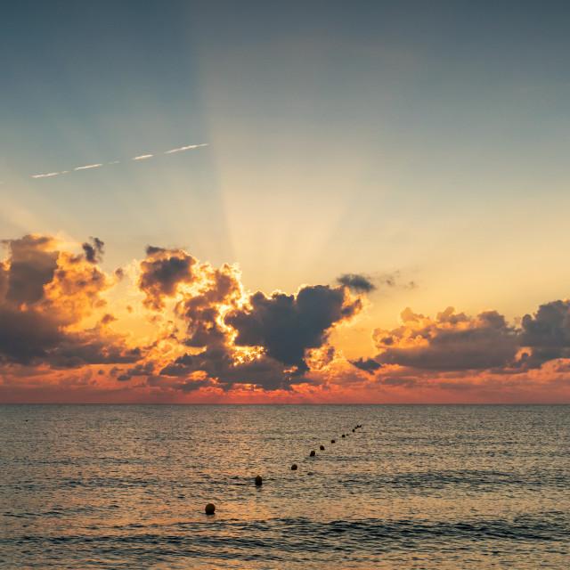"""""""Mediterranean Sunrise"""" stock image"""