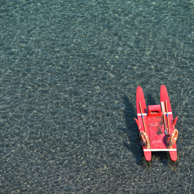 """Red pedalo"" stock image"