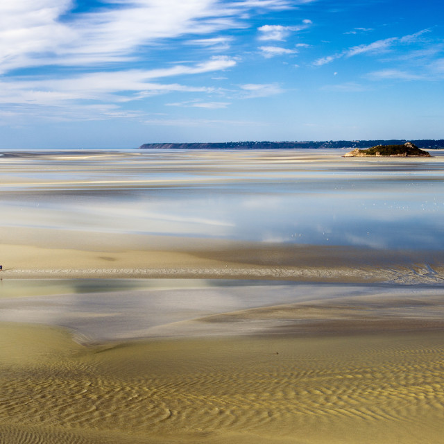 """The Bay of the Mont Saint-Michel - tide out."" stock image"