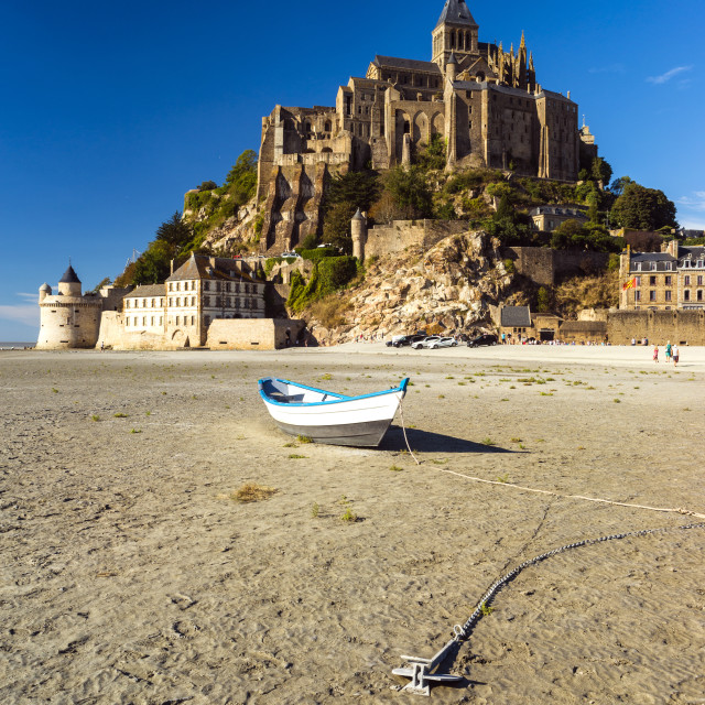"""Le Mont Saint-Michel at Low tide."" stock image"