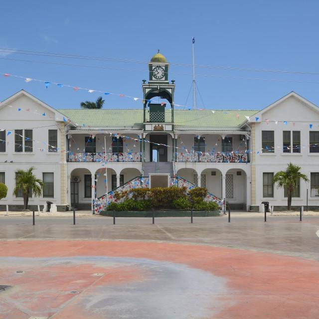"""Belize Supreme Courthouse"" stock image"