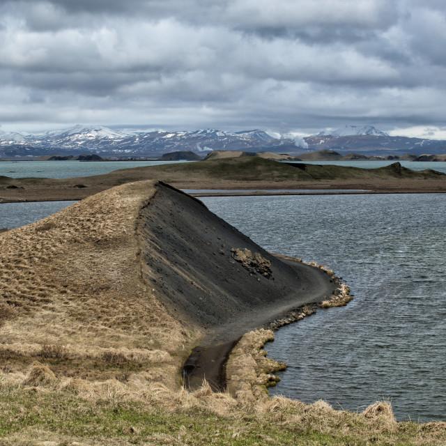 """""""myvatn lake in iceland"""" stock image"""