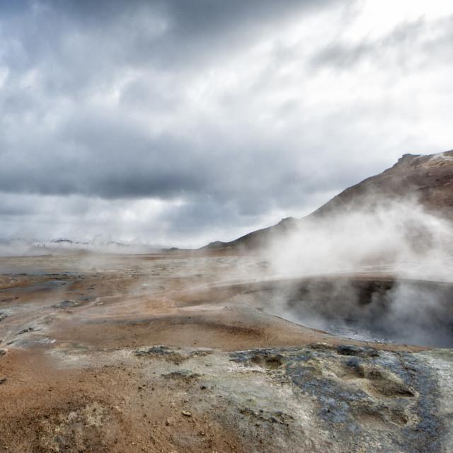 """myvatn lake hot springs in iceland"" stock image"